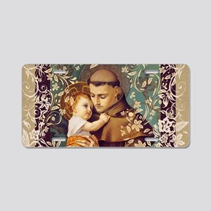 Saint Anthony Aluminum License Plate