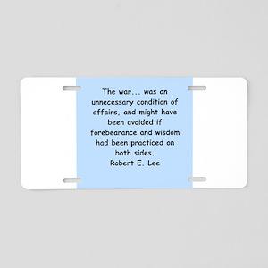 robert e lee Aluminum License Plate