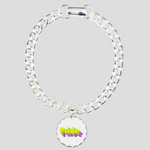 Retro rainbow LGBT pride Charm Bracelet, One Charm