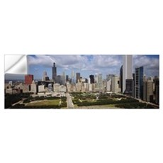 Skyscrapers in a city, Chicago, Cook County, Illin Wall Decal