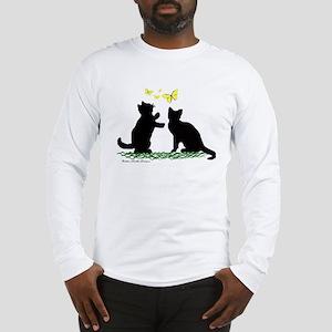 Kittens & Butterflies Long Sleeve T-Shirt