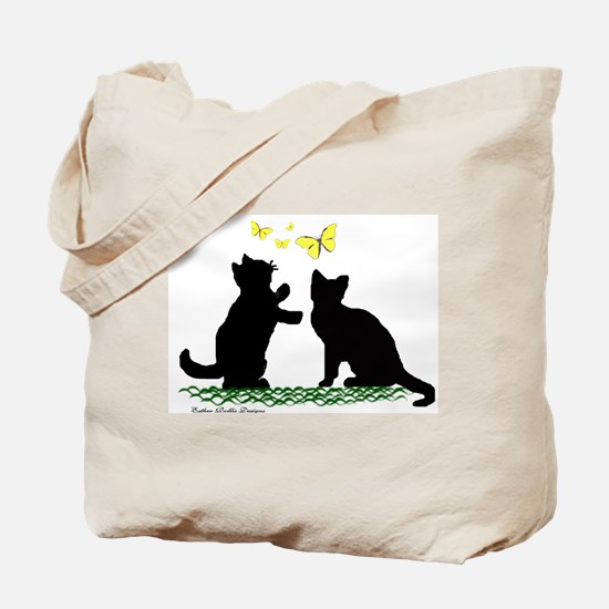 Kittens & Butterflies Tote Bag