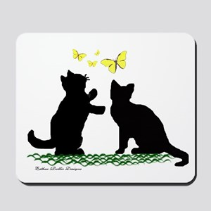 Kittens & Butterflies Mousepad