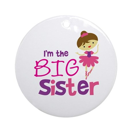 Dance Big Sister Ornament (Round)
