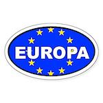 Europa Flag Oval Sticker