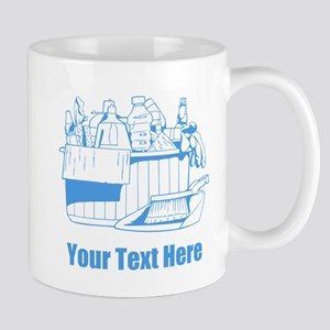 Cleaning things. With Text. Mug