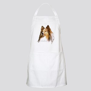 Sheltie Head-Retro BBQ Apron