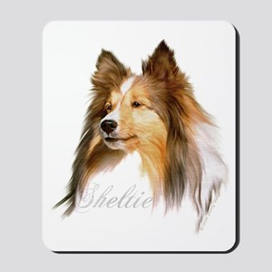 Sheltie Head-Retro Mousepad