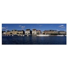 Buildings at the waterfront, Gamla Stan, Stockholm Poster