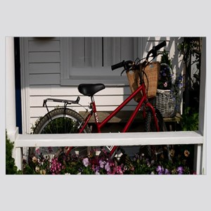 Bicycle parked on a porch of a house, Elbow Lane,