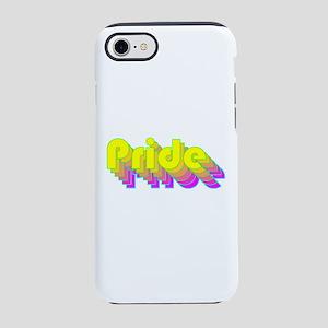 Retro rainbow LGBT pride iPhone 7 Tough Case