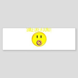 Basic Smile Like A Donut Bumper Sticker