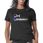 12x12_vi_emacs_checked_dar Women's Classic T-Shirt