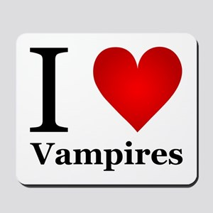 I Love Vampires Mousepad
