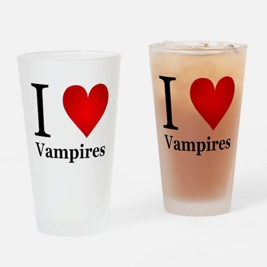 I Love Vampires Drinking Glass