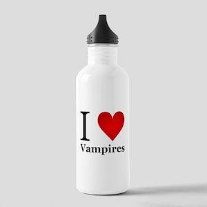 I Love Vampires Stainless Water Bottle 1.0L