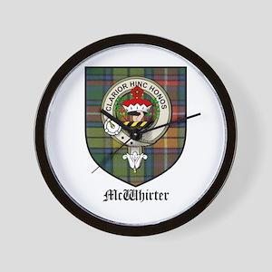 McWhirter Clan Crest Tartan Wall Clock