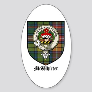 McWhirter Clan Crest Tartan Oval Sticker
