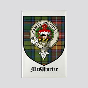McWhirter Clan Crest Tartan Rectangle Magnet (10 p