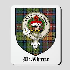 McWhirter Clan Crest Tartan Mousepad