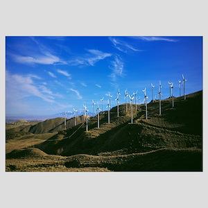 Windmills on hillside, Calilfornia