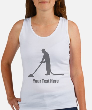 Vacuum Cleaning. Your Text. Women's Tank Top