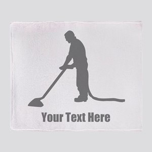 Vacuum Cleaning. Your Text. Throw Blanket