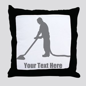 Vacuum Cleaning. Your Text. Throw Pillow