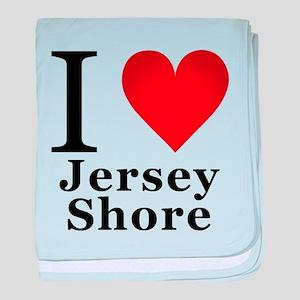 I Love Jersey Shore baby blanket