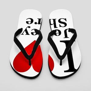 I Love Jersey Shore Flip Flops