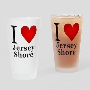 I Love Jersey Shore Drinking Glass