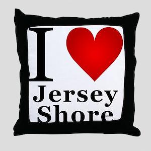 I Love Jersey Shore Throw Pillow