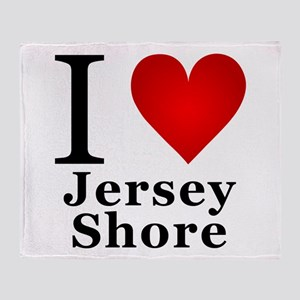 I Love Jersey Shore Throw Blanket