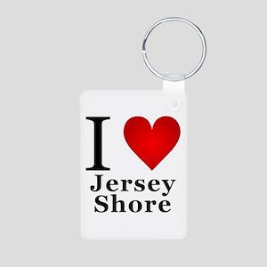 I Love Jersey Shore Aluminum Photo Keychain