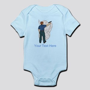 Window Cleaner. Custom Text. Infant Bodysuit