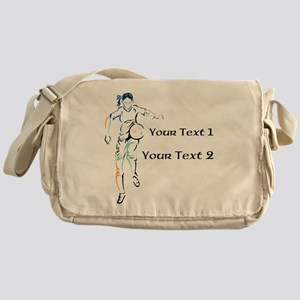 Womens Soccer. Custom Text Messenger Bag