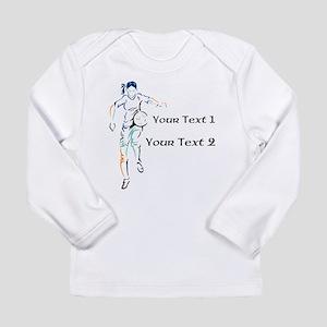 Womens Soccer. Custom Text Long Sleeve Infant T-Sh