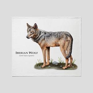 Iberian Wolf Throw Blanket