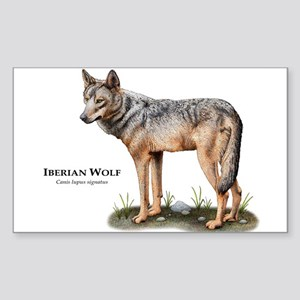 Iberian Wolf Sticker (Rectangle)