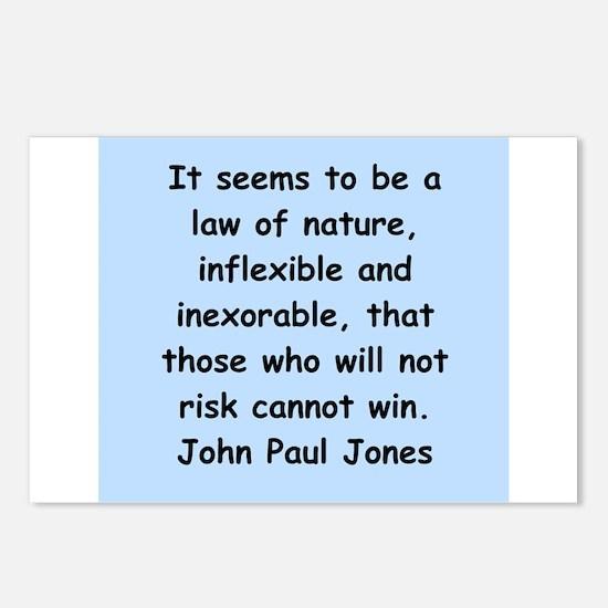 john paul jones Postcards (Package of 8)