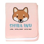 Shiba Inu Cutie Face Baby Blanket
