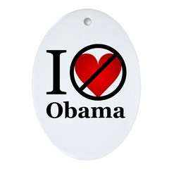 Anti Obama Ornament (Oval)