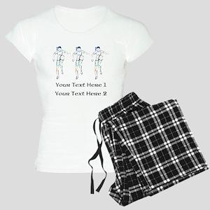 3 Soccer Ladies. With Text. Women's Light Pajamas