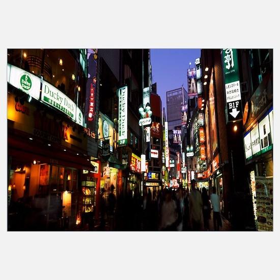 Group of people walking in a street, Shibuya Ward,