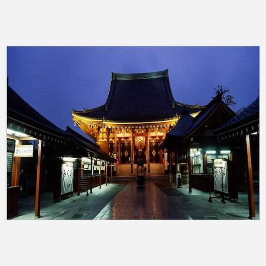 Facade of a temple, Senso-ji Temple, Asakusa, Tait