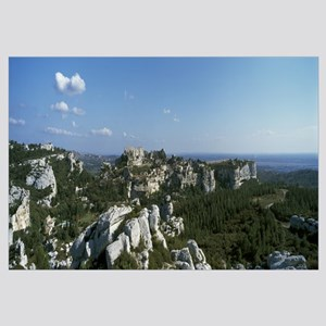 Rock formations on a landscape, Les Baux-De-Proven