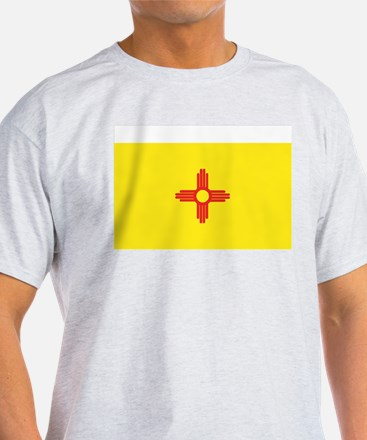 New Mexico State Flag Grey T-Shirt