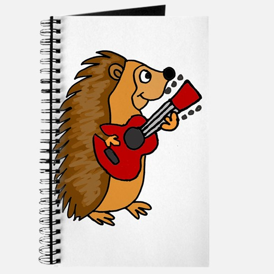 Hedgehog Playing Guitar Journal