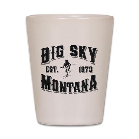Big Sky Skier Shot Glass