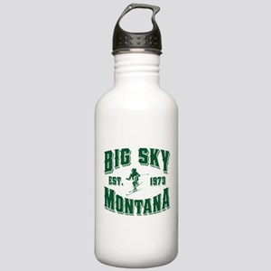 Big Sky Skier Green Stainless Water Bottle 1.0L